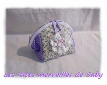 small purple spirit make up bag
