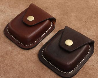 Leather Coin Pouch Coin Holder Coin Organiser Leather Coin Purse