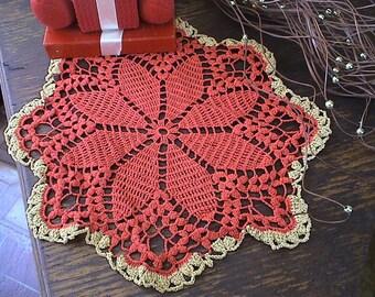 Beautiful crochet doily handmade