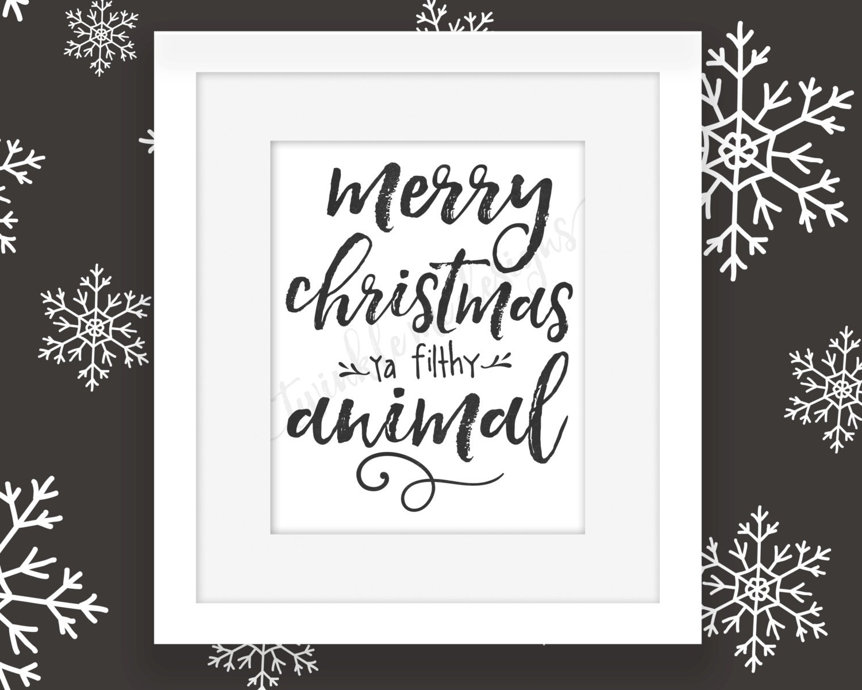 Doormat keep the change you filthy animal doormat photographs : Christmas Printables Home Alone Christmas Merry Christmas Ya
