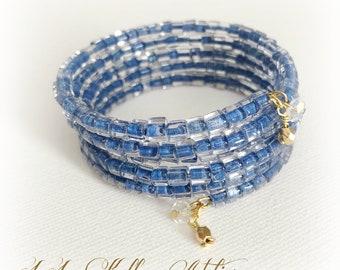 ETERNITY WRAP Bracelet in Denim Blue