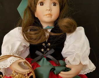 """American Diary Doll """"Christina Merovina"""" by Linda Mason.  Boxed with certificate."""