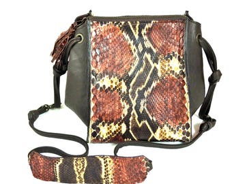 Python leather Bags