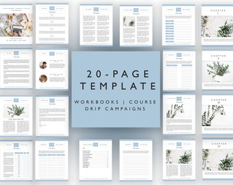 Magazines template etsy webinar workbook template for indesign 20 pages drip campaign e course maxwellsz