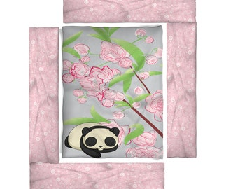 Sleeping Panda Nursery Baby Bedding - Design Your Own Baby Bedding- Available Personalized, Mongrammed Crib Comforter, Blanket, Bumper Pad