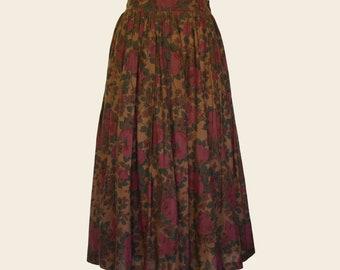 Vintage Handmade Rose Floral Skirt