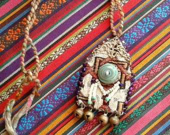 AMULET, handmade with recycle materials***FEELGOOD***