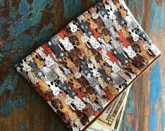 medium zipper pouch plethora of kitties
