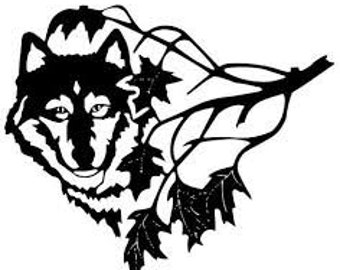 Wolf In A Tree SVG File