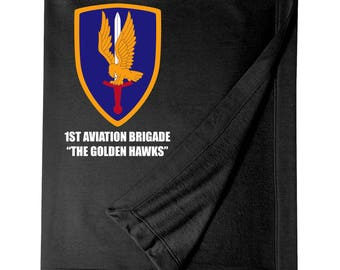 1st Aviation Brigade Embroidered Blanket-7068