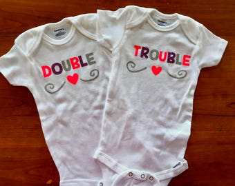 Double Trouble onesies/toddler shirt