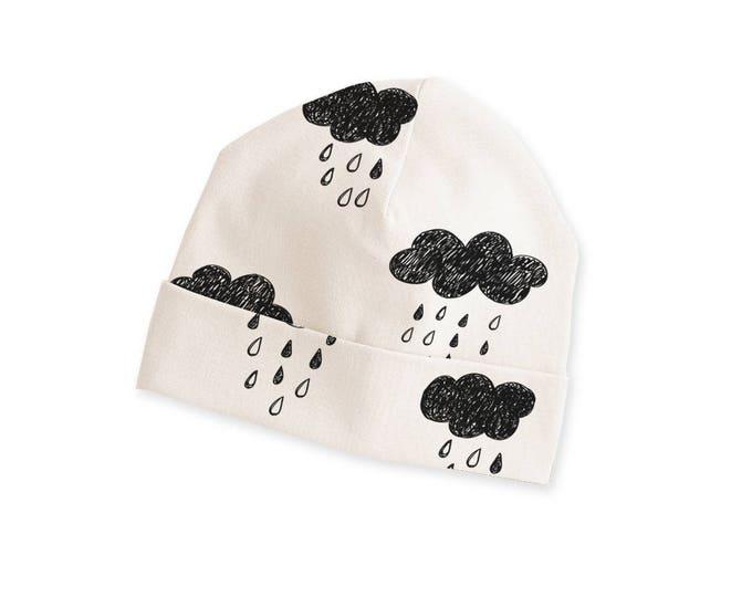 Unisex Baby Hat, Newborn Beanie, Neutral Baby Hat, Baby Boy Hat, Baby Girl Hats, Clouds, TesaBabe