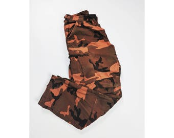 Vintage Army Cargo Pants | USA Sand Camouflage Pattern
