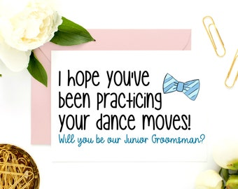 Junior Groomsman Card, Groomsman Proposal, Ring Bearer Card, Usher Card, Funny, Cute