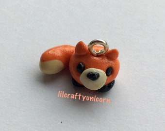 Kawaii fox polymer clay charm