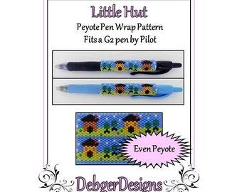 Bead Pattern Peyote(Pen Wrap/Cover)-Little Hut