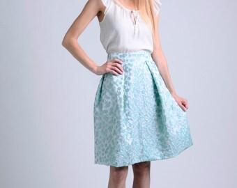 light mint acqua midi skirt / midi skirt / bridesmaids skirt / wedding skirt / occasion skirt