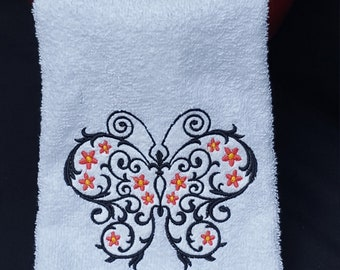 butterfly hand towel / spring /housewarming / gifts under 10/