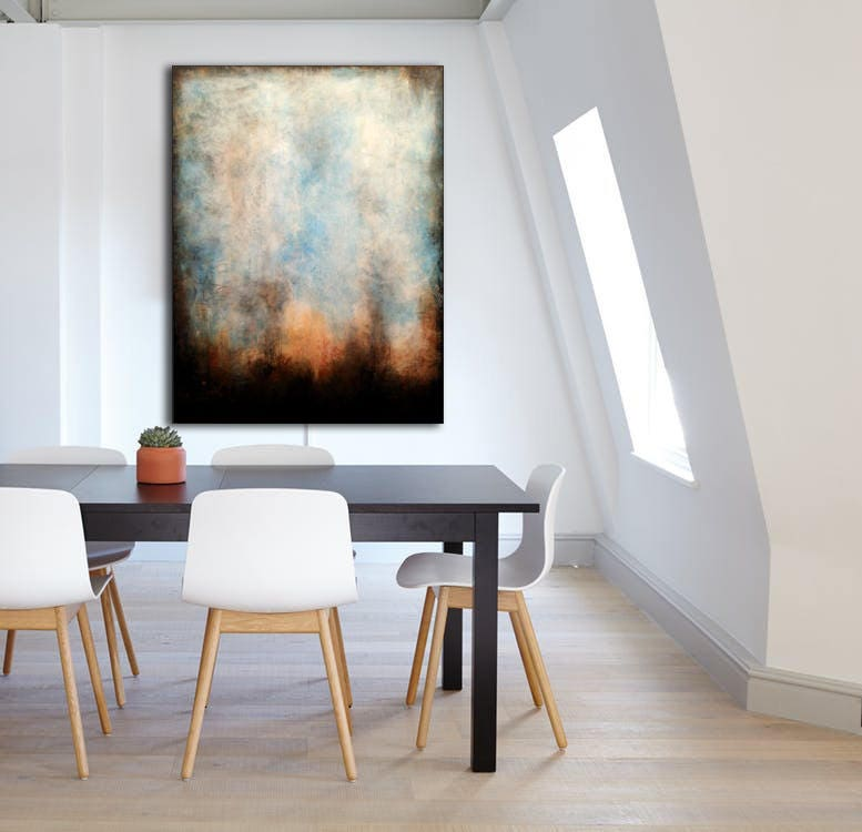 Greatest Original ABSTRACT PAINTING 30x40 Large Canvas Art Industrial Art  JW73