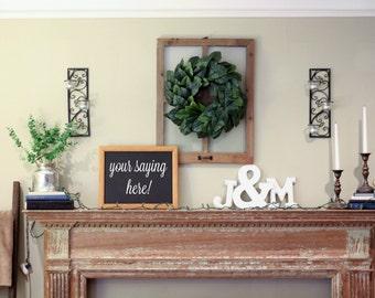 Custom Chalkboard Sign | Wooden Frame Chalkboard | Wedding Chalkboard | Home Decor Chalkboard