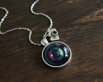 gift vintage for pin old jewelry pendant lens photographer photography men camera necklace