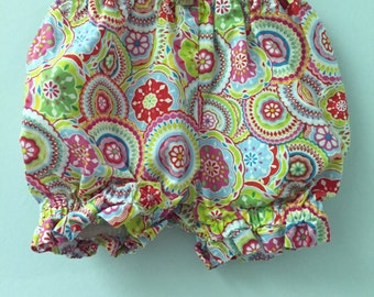 24 month, Classic Baby Bloomers, Bright Floral Print