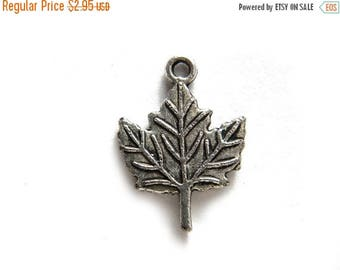 HALF PRICE 6 Silver Maple Leaf Charms