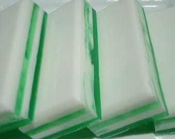 Coconut Lime Soap - White and Green Soap - Striped Soap - Homemade Soap - Bar Soap