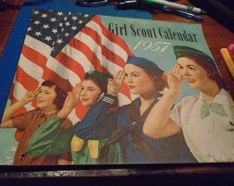 1957 Girl Scout Wall Calendar
