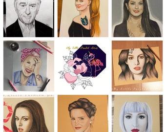 Portrait A4 - Uni Background - one Person - Color or B&W