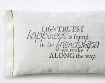 Lavendar Mini Pillow, Unique Friendship Gifts, Long Distance Friendship Pillow, Going Away Gift for Friend, Quote Sachet