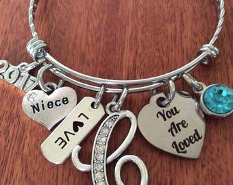 NIECE Gift, PERSONALIZED Niece Gift, Niece Birthday Gift, Niece Christmas Gift, Gifts For Niece, Niece Jewelry, Niece Bracelet, Niece Gifts