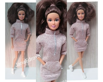 For Barbie jersey pink shiny sweater