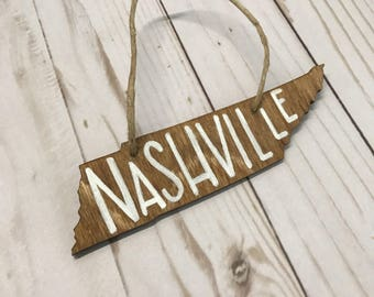 Tennessee Christmas Ornaments | Wooden Hand Lettered Christmas Ornaments