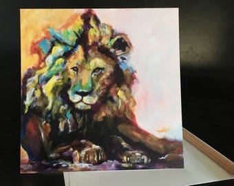 Leo Lion Frameable Fine Art Card