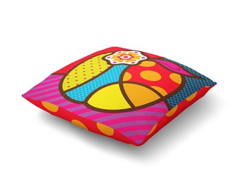 Pop Apple Floor Pillow