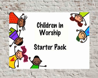 Children in Worship Starter Kit / Value Pack - Children Illustration Design