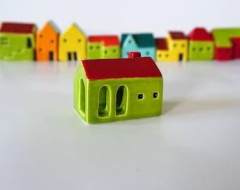 Small Handmade Ceramic Green House