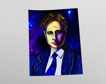 Fox Mulder Space Alien X Files Fan Art Print
