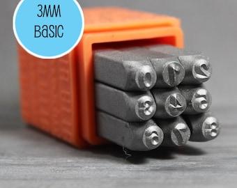3mm Number Stamps, 3mm Metal Stamps, Metal Design Stamps, Number Metal Stamps, Number Stamp Set, INV4008