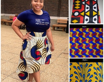 High Low Ankara Skirt