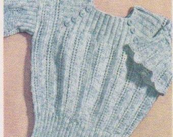 1935 Square Yoke, Flared Sleeves