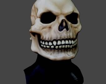 Ghost Skull Latex Overhead Mask