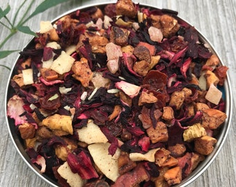Pina Colada Tea Fruit Tea Coconut Tea Pineapple Tea Blend Loose Leaf Tea  Leaves Loose leaf Tea Lover Gift Iced Tea Hostess Gift Tea Herbal