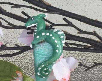 Amazonite Gemstone dragon charm!