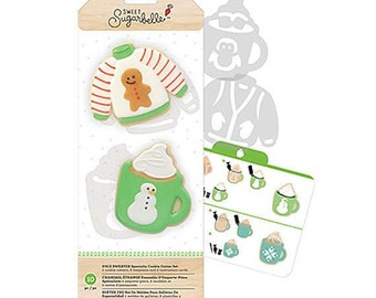 Ugly Sweater Cookie Cutters, Hot Cocoa Mug Cookie Cutter, Sweet Sugarbelle Cookie Cutter Kit, Christmas Cookie Cutters, Biscuit Cutter