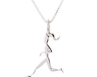 Runner Girl Pendant Necklace- Running Jewelry
