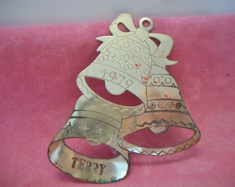 Vintage Lillian Vernon Lilikins Bell Christmas Ornament 1979 Retro Terry