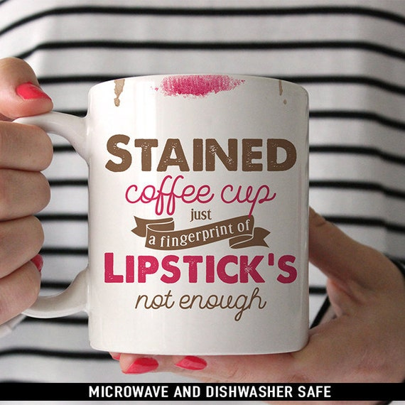 Coffee Mug No Control Lyrics Coffee Mug - Stained Coffee Cup Just a Fingerprint of Lipstick's Not Enough - One Direction