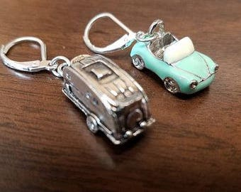 Convertible & trailer earrings 925 silver clasp Tibetan Silver airstream, earrings created exclusively for Trailer Trash !!